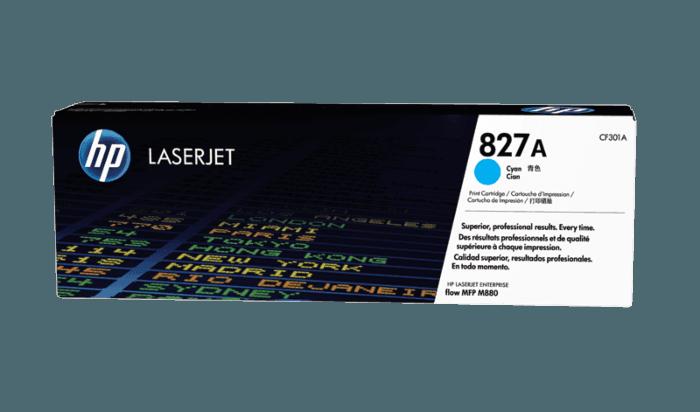 HP 827A Cyan Original LaserJet Toner Cartridge