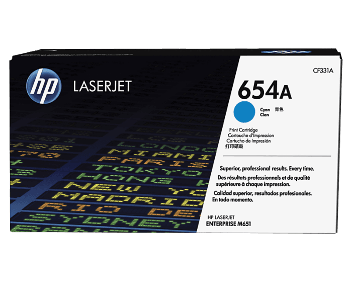 HP 654A Cyan Original LaserJet Toner Cartridge