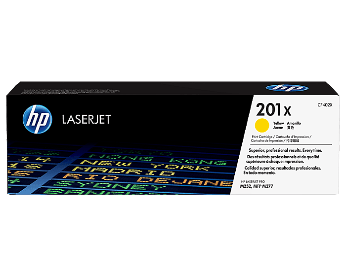 HP 201X High Yield Yellow Original LaserJet Toner Cartridge
