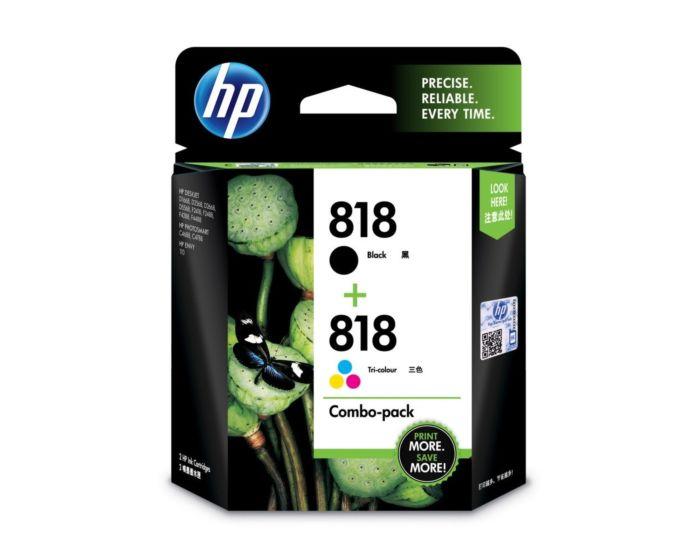 HP 818 2-pack Black/Tri-color Original Ink Cartridges