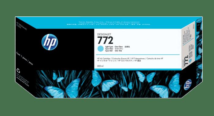 HP 772 300-ml Light Cyan DesignJet Ink Cartridge