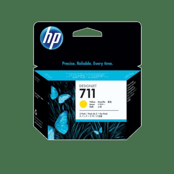 HP 711 3-pack 29-ml Yellow DesignJet Ink Cartridges