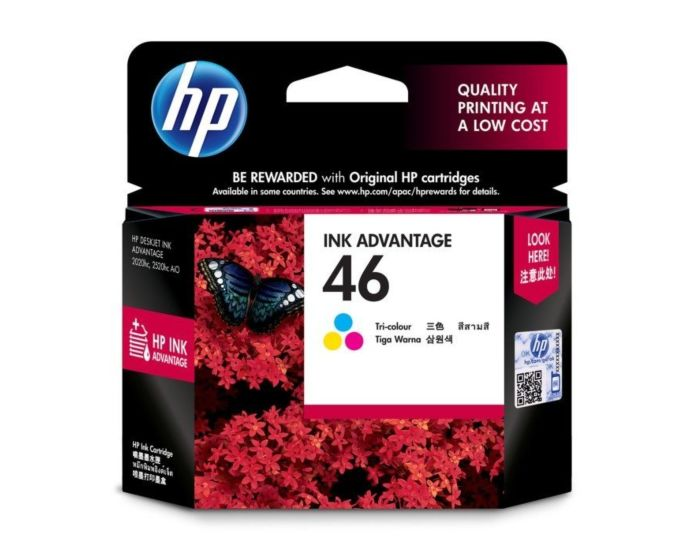 HP 46 Tri-color Original Ink Advantage Cartridge