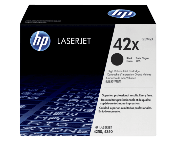 HP 42X Black High Yield Original LaserJet Toner Cartridge
