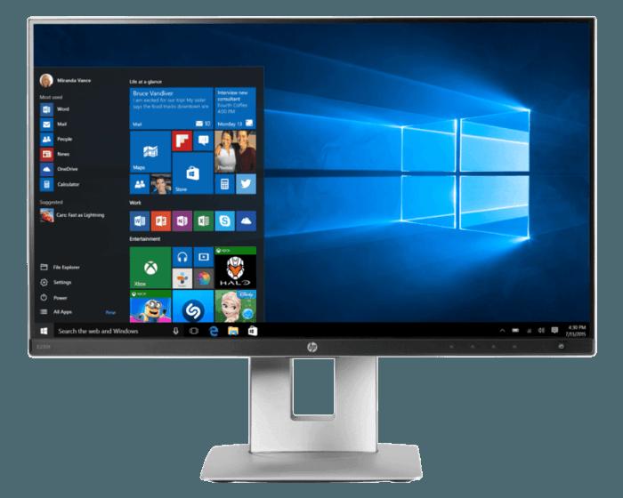 HP EliteDisplay E230t 58.4 cm (23) Touch Monitor