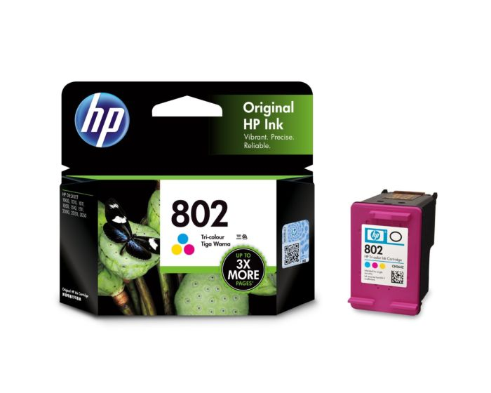 HP 802 Tri-color Original Ink Cartridge
