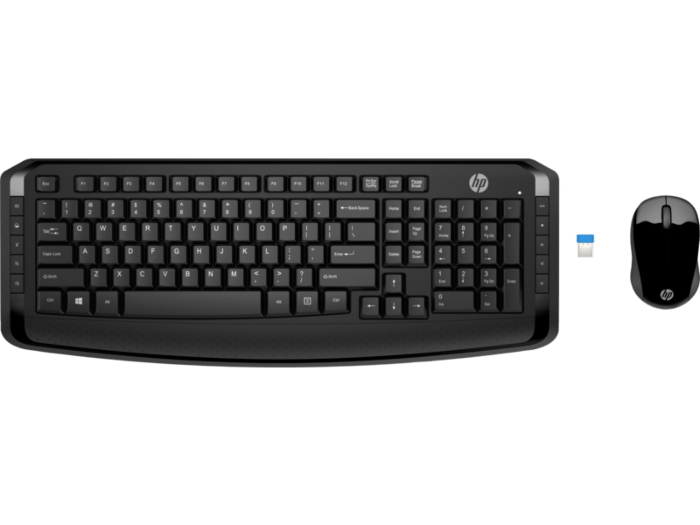 0a50effb8c8 HP Wireless Keyboard and Mouse 300. In stock. SKU. 3ML04AA. Promotion.  Center facing