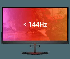 144 Hz and below